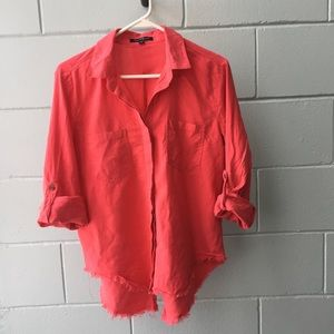 🌼 $10 ADD ON Coral 3/4 sleeve button up top